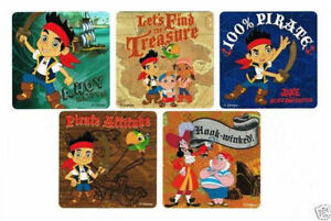 15 Jake amp; The Neverland Pirates Stickers Kids Party Goody Loot Bag Favor Supply