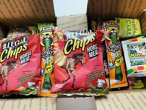 100 Piece Snack Box Asian Japanese Chinese Korean Variety Savory Treats Samples $45.00