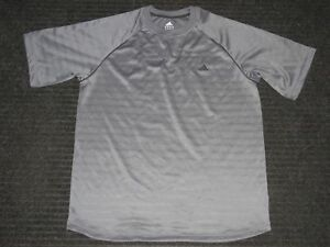 Adidas ATS Dry Athletic Running Fitness Gym Short Sleeve SS Shirt Mens XL Gray