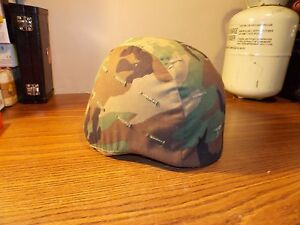 Army issue ca. 1984  Kevlar Military Helmet with Camo Cover Medium