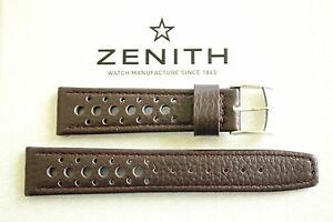 NWOP 20MM BROWN LEATHER RALLY WATCH BAND WATCHBAND BRACELET STRAP FOR ZENITH