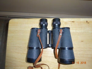 Vintage Weust 7X50 binoculars with leather case