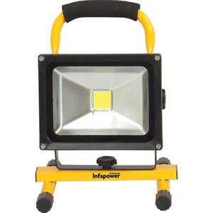 Infapower F049 20 Watt COB LED Portable Worklight Rechargeable with Carry Handle