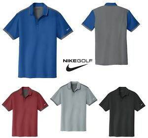 MEN'S NIKE GOLF SHORT SLEEVE DRI-FIT WOVENKNIT POLO SHIRT LIGHTWEIGHT XS-4XL