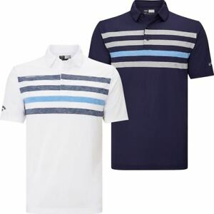 Callaway Golf 2018 Mens Opti-Dri Ventilated Chest Stripe Golf Polo Shirt