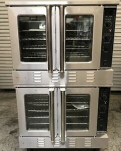 NEW Convection Oven Double Stack Gas Black Diamond #7524 NSF Bakery Bake Fan