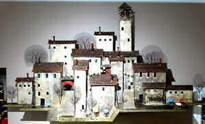 Village Scene Metal Wall Sculpture by Curtis Jere