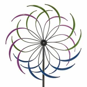 6' Large Colorful Iron Metal Garden Wind Spinner Windmill Outdoor Yard Sculpture