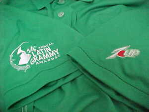 14th Annual LATIN GRAMMY AWARD 7UP Green Dri Fit Short Sleeve Polo Shirt L Nike