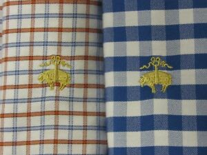 BROOKS BROTHERS Mens L OXFORD Shirt Golden Fleece Plaid Checked Sport LOT OF 2
