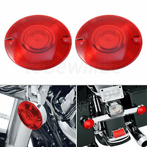 2x Red Turn Signal Light Lens Covers For Harley Touring Electra Glide 1986-2018