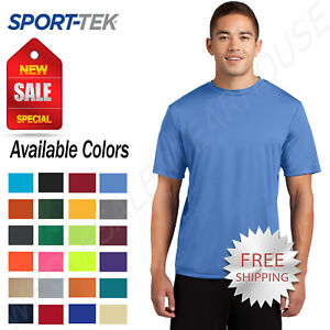 Sport Tek Men's Dri Fit PosiCharge Workout S 4XL T Shirt M ST350 $6.85