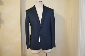 VERSACE COLLECTION DARK BLUE COTTON CASUAL DRESS CASUAL JACKET BLAIZER S 48 38