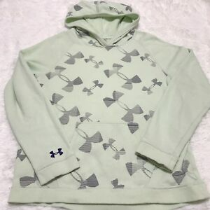 Under Armour Storm Kaleidalogo Girls Youth Pullover Hoodie Mint Green XLarge XL