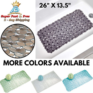 Bath Tub Shower Mat Non Slip Safety Hydro Rug Strong Suction Cup Quick Drain New