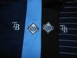 Lot 4 Tampa Bay Rays Nike Dri-Fit Fit-Dry Mens Polo Shirts XL X Large