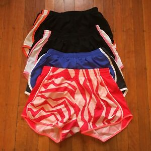 Nike Small Dri-Fit Running Shorts Lot Of 4 Black Blue Pink Solid And Print