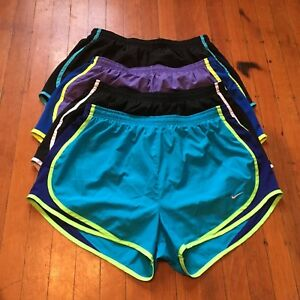 Nike Large Dri-Fit Running Shorts Lot Of 4 Black Blue Purple Solid