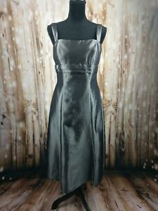 B2 women's dress cocktail wedding sleeveless formal grey silver size 12 NWT