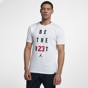 NIKE Mens White Air Jordan T-Shirt Sports Wear Be The Best Famous Womens Gift
