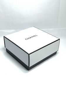 """Chanel Signature Square Empty White Gift Box Authentic NEW 8.5"""" By 8.5"""" By 3.75"""