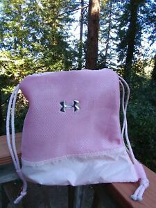 Under Armour Mesh Gym Bag Protect this House Travel Women Girls Pink FREE Ship!