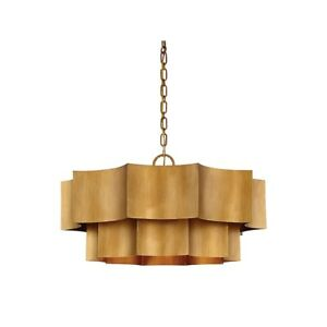 Savoy House Shelby 6 Light Pendant in Gold Patina - 7-101-6-54