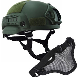 MICH2002 Simplified Action type Military tactical combat helmet airsoft w Mask
