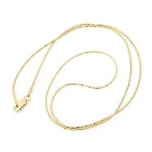 Beauniq 14k Yellow Gold w White Gold Two-Tone 1.0mm Snake Chain Necklace 18
