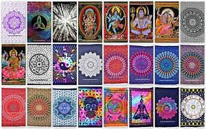Pack of 5 Indian Mandala tapestry hippie Hippy Cotton wall hanging Bohemian dorm