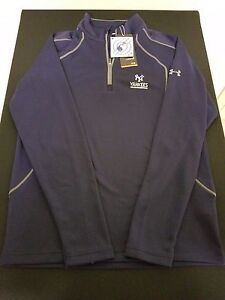 New Mens New York Yankees MLB Under Armour Loose 14 Zip Top Style 1284494 Small