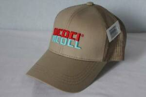 Mens Rebel Baseball Cap Tan Khaki Trucker Hat Fishing Lures Bait Bass Trout