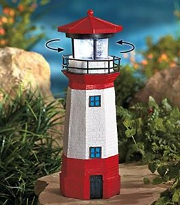 Solar Lighthouse with Rotating Lamp $22.99