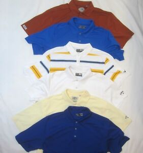 EUC Mens L Lot of 6 Callaway Golf Polo Shirts 5 Poly 1 Cotton 4 Solid 1 Striped