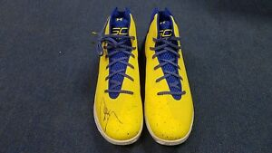 STEPHEN CURRY Signed (Warriors) Under Armour Shoes JSA FULL LETTER