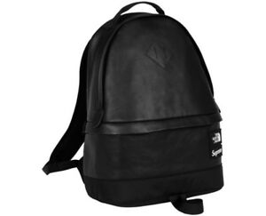 Supreme The North Face Leather Day Pack Black Backpack FW17 AUTHENTIC NEW