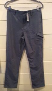 Boys Under Armour Golf Cargo Pants Chinos Youth XL Gray  Adjustable Waist  NWT