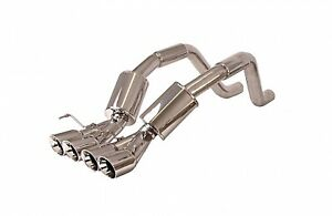 Billy Boat FCOR-0460 Catback Bullet Exhaust w4.5 inch Quad-Rolled Oval Tips