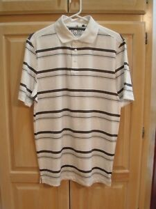 n NWT Mens Under Armour Loose Heat Gear Golf Polo Size Medium White   MSRP $55