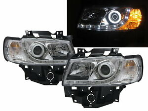 Transporter T4 96-03 FACELIFT Cotton Halo R8Look Headlight CH for Volkswagen LHD
