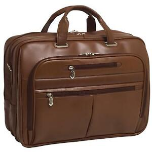 McKleinUSA Rockford 86515 Brown Leather 17 Laptop Case