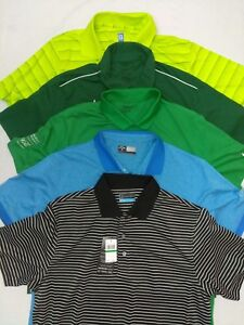 LOT OF 5 Nike Dri Fit Callaway PGA Golf Polo Shirts Size Large