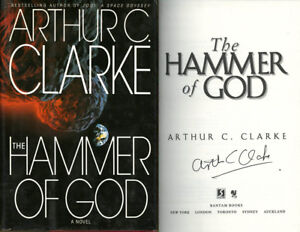 Arthur C. Clarke SIGNED AUTOGRAPHED The Hammer of God HC 1st Edition 1st Pr RARE