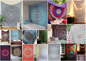 Indian Tapestry Hippie Mandala Wall Hanging Bohemian Bedspread Beach Throw Decor