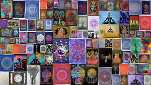Indian Mandala Cotton Wall Hanging Bohemian Dorm Decor 3D  Tapestry Bohimean Art