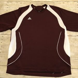 EXC Mens Adidas Dri Fit Clima Cool Shirt Maroon Team Performance Size Large