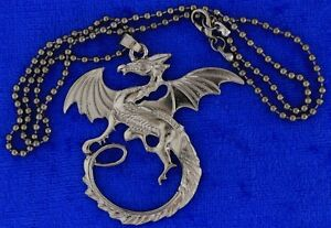 Targaryen Dragon Necklace or Keychain Gray Color Game of Thrones TV Inspired