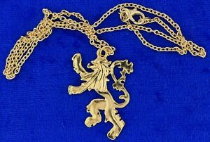 Lannister Lion Necklace or Keychain Gold Color Game of Thrones TV Inspired