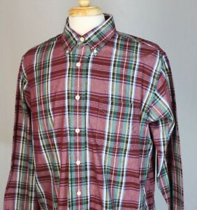Brooks Brothers Sport Shirt  Button Down Men's Sz Large Plaid Made in USA EUC