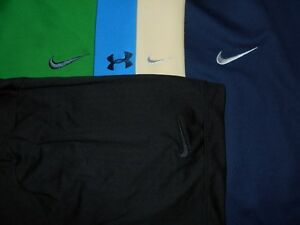Lot 5 Nike Dri-Fit Fit-Dry Under Armour Mens Polo Shirts 2XL XXL XX Large 1 NWOT